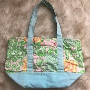 Lilly Pulitzer Colorful Print Tote Bag